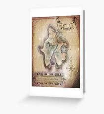 Twin size Classic Neverland Map Greeting Card