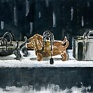 Wiener Dog Handbags Illustration by beadylou