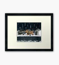 Wiener Dog Handbags Illustration Framed Print
