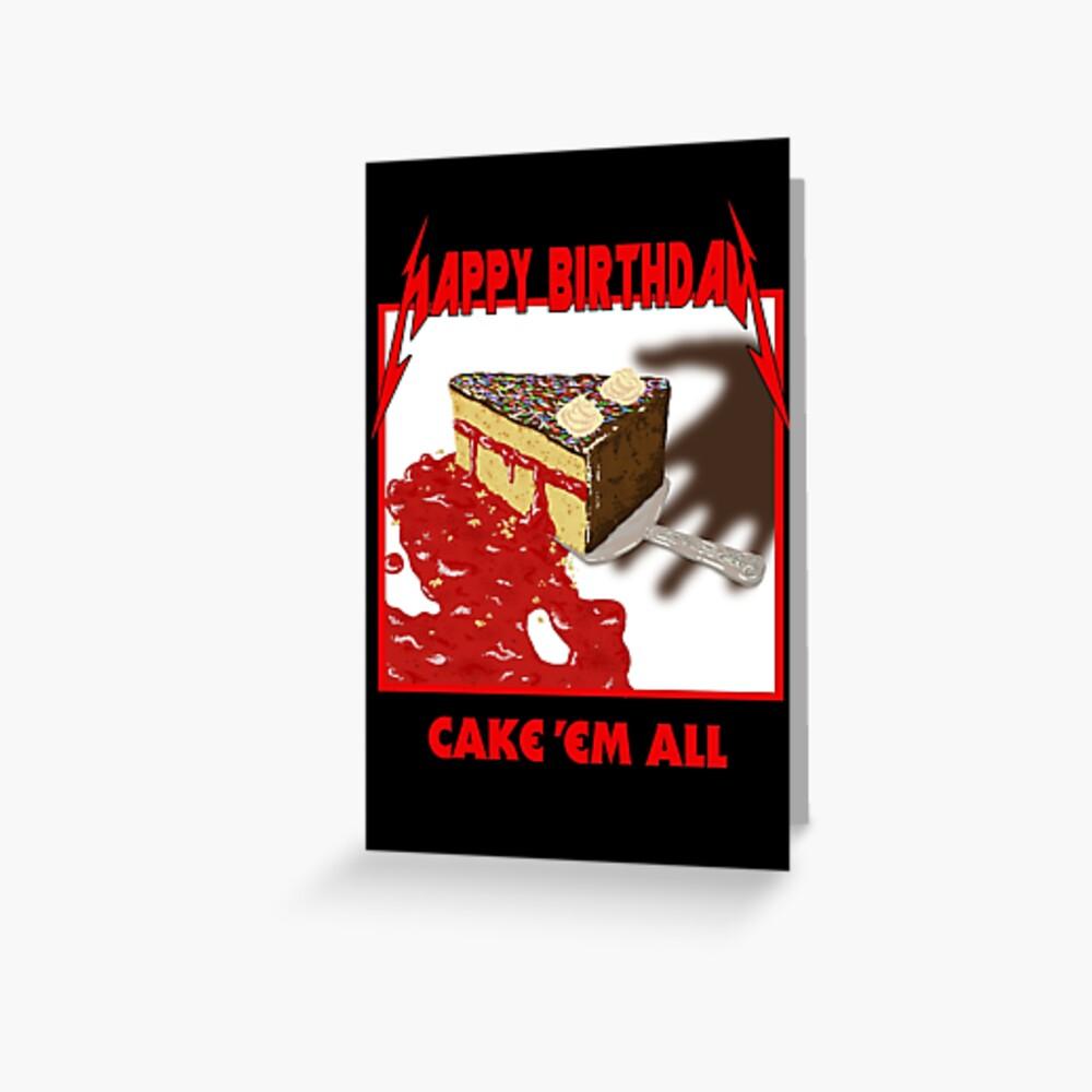 Kuchen Em All - Parodie Grußkarte