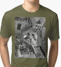 Escher's Asylum of the Daleks Tri-blend T-Shirt
