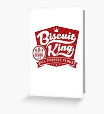Biscuit King Greeting Card