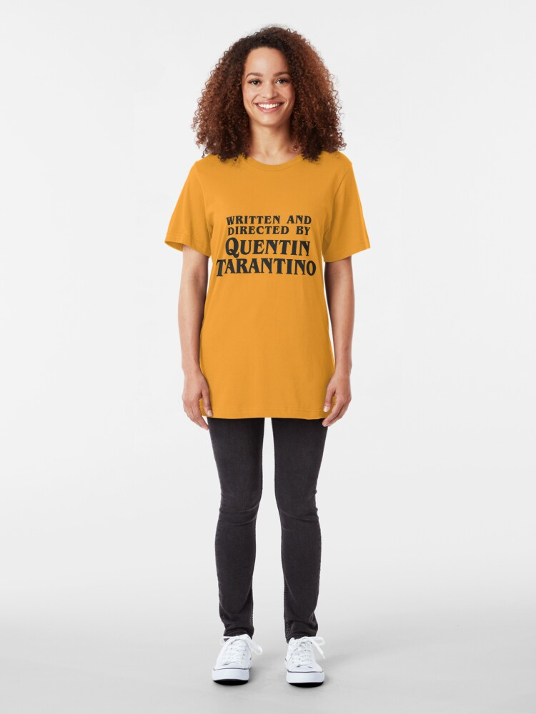 Alternate view of Written and Directed by Quentin Tarantino (dark) Slim Fit T-Shirt