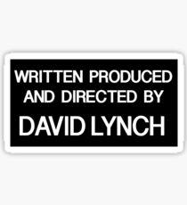 Lynchian - Black Version Sticker