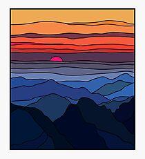 Summer sunset landscape Photographic Print
