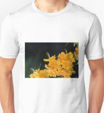 Rhododendron flowers on a black background Unisex T-Shirt