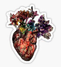 Flowered Heart Sticker