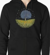 Starry Night Sky Zipped Hoodie