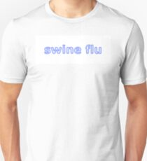 Swine Flu Blue White Unisex T-Shirt
