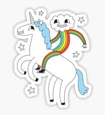 Unicorn & Rainbow Boy Sticker