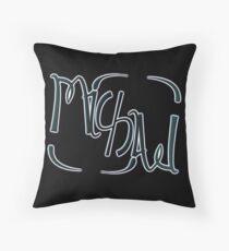 """Michael"" ambigram (reversible image) Throw Pillow"