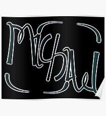 """Michael"" ambigram (reversible image) Poster"