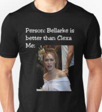 Clexa vs (Alycia meme) white letters Unisex T-Shirt