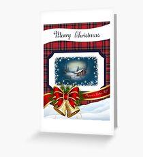 Plaid Frasers Ridge Christmas Greeting Card
