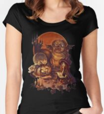 Unlucky Halloween Witch Women's Fitted Scoop T-Shirt