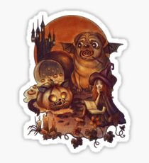 Unlucky Halloween Witch Sticker