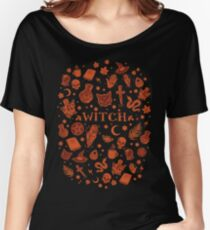 WITCH orange elements Women's Relaxed Fit T-Shirt
