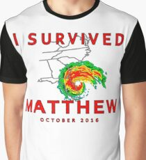 I Survived Hurricane Matthew Graphic T-Shirt