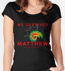 We Survived Hurricane Matthew Women's Fitted Scoop T-Shirt