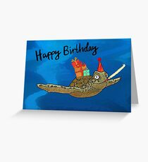 Birthday Turtle Greeting Card