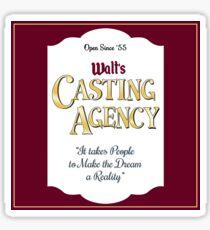 Walt's Casting Agency - Burgundy Sticker
