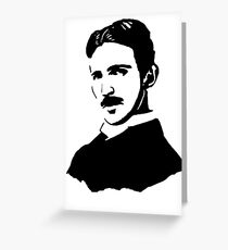 Nikola Tesla Stencil Greeting Card