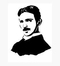 Nikola Tesla Stencil Photographic Print