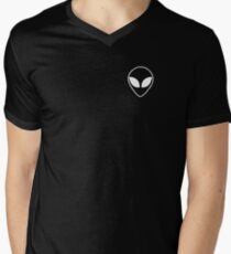 Alien Head Men's V-Neck T-Shirt