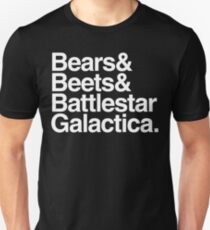 Bears, Beets, Battlestar Galactica Slim Fit T-Shirt