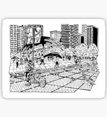 Cloud Gate Maze (The Bean) Sticker
