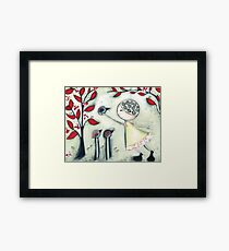 The delicate balance of nature Framed Print