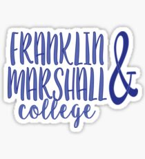 Franklin and Marshall College 2 Sticker