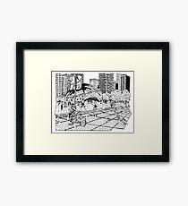 Cloud Gate Maze (The Bean) Framed Print