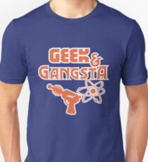 Geek & Gangsta - Nerdy Retro Science Fiction Humor T-Shirt