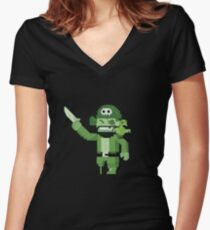 Pirate Virus - Archer Women's Fitted V-Neck T-Shirt
