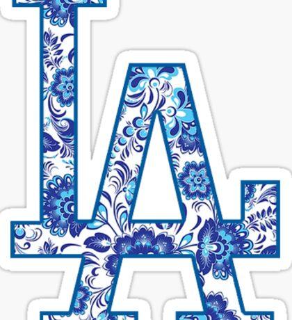 LA Dodgers Pattern Sticker