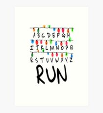 ST RUN Art Print