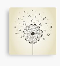 Music a dandelion Canvas Print
