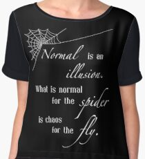 Normal is an Illusion Chiffon Top