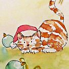 christmas cat by Claudia Dingle