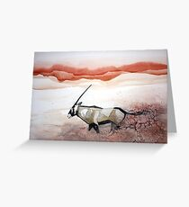 Oryx in flight Greeting Card