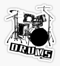 Label Me A Drum Set (Black Lettering) Sticker