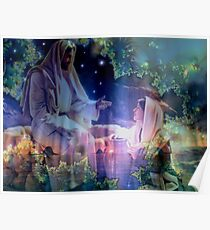 Jesus and Mary Magdalene Poster