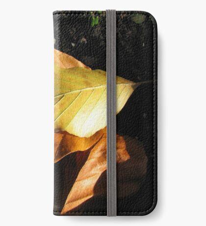 Russet Autumn Leaves - Close-up iPhone Flip-Case