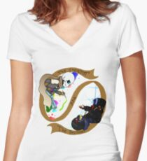The Creator and The Destroyer Women's Fitted V-Neck T-Shirt