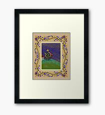 Turkey on the Hill Border page Edward Lear Project Framed Print