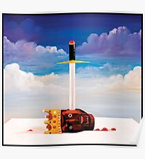 kanye west beautiful dark twisted fantasy head Poster