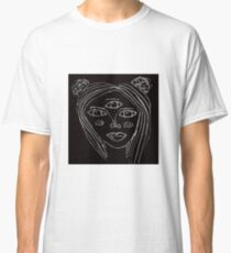 Negative Space Alien Classic T-Shirt