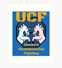 Unicorn Championship Fighting Art Print