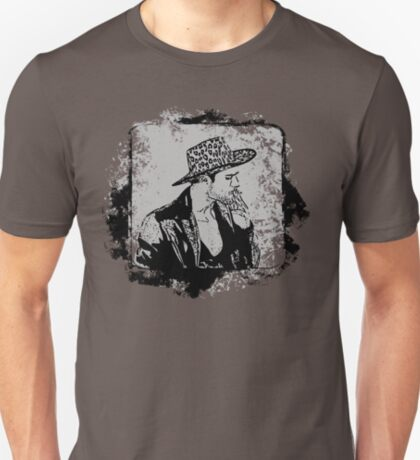 Cowboy Smoking Hat - Cool Grunge Vintage T-Shirt